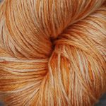 Hand-Dyed Silk/Merino/SeaCell Silk -- Goldenrod