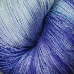 Hand-Dyed Silk/Merino/SeaCell Silk -- Snowballs