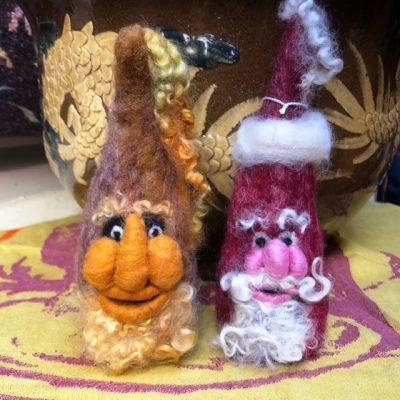 Beginner Felted Gnomes