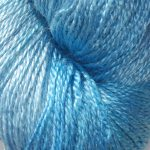 Hand-dyed 100% Silk  - Blue Columbine