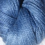 Hand-dyed 100% Silk  - Frosted Blueberries