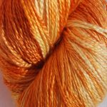 Hand-dyed 100% Silk  - Indian Summer
