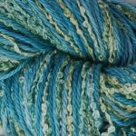 Hand-dyed 100% Silk Bouclé & Rainbow Prism - Water Lily Moss