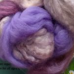Hand-dyed Merino/Silk Fiber - Lavender Honey