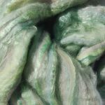 Hand-dyed Merino/Silk Fiber - Mint