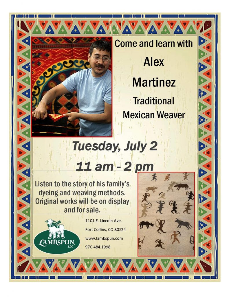 Come and Learn with Alex Martinez -- Traditional Mexican Weaver!