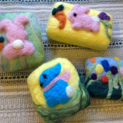 Lavender Felt Gift Soap : Apr. 17