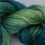 Hand-dyed 100% Silk  - Spring Grasses