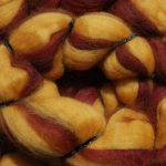 Merino/Silk Fiber - Autumn Aspen Leaf