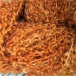 Hand-dyed Kid Silk Bouclé - Pumpkin