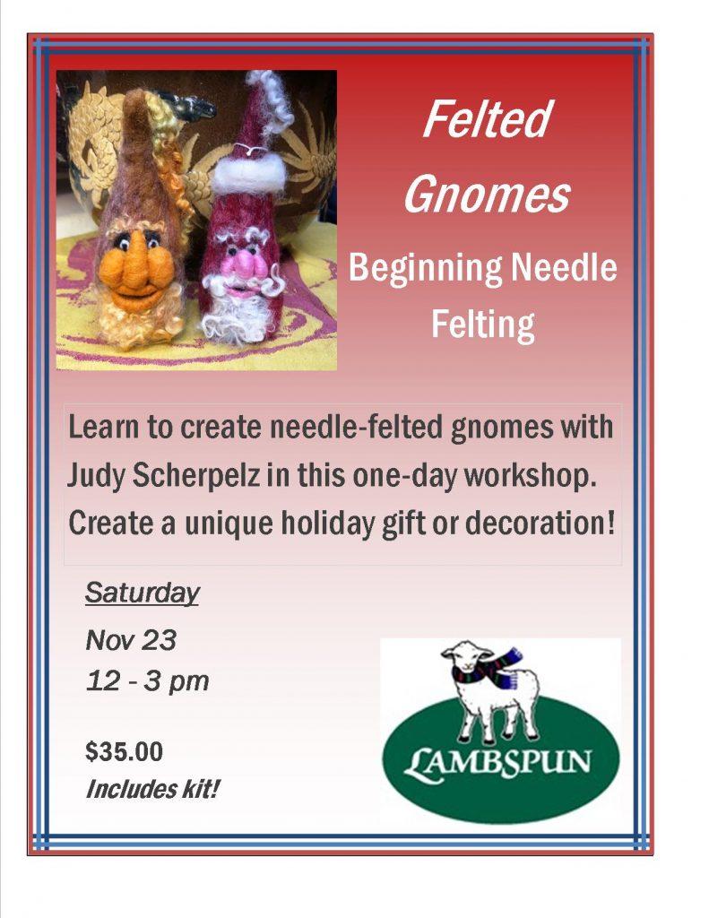 Felted Gnomes -- Beginning Needle Felting