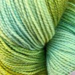 Superwash Sock Yarn - Green Galaxy with Sparkle