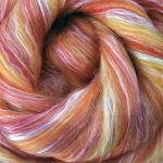 Merino/Silk Fiber - Sunset Orange