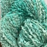 Hand-dyed 100% Silk Bouclé - Biscay Green