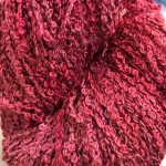 Hand-dyed 100% Silk Bouclé - Red Feather Starfish