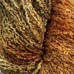 Hand-dyed 100% Silk Bouclé - Turmeric Chai
