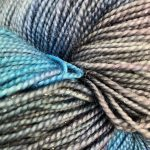 Superwash Sock Yarn - Blue-Purple Galaxy