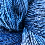 Superwash Sock Yarn - Misty Bunting Sparkle