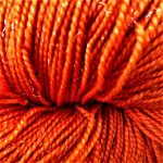 Superwash Sock Yarn - Orange Stars with Sparkle