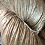 Hand-Dyed Silk/Merino/SeaCell Silk -- White Beaches