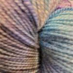 Superwash Sock Yarn - Blue Lavender Nebula