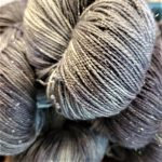 Superwash Sock Yarn - Gemini Grey with Sparkle