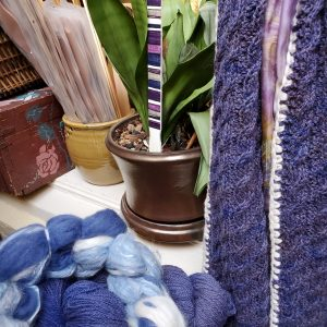 Reversible Cable Scarf Kit with Cashmere Trim