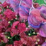 Merino/Silk Fiber - Chrysanthemum Cottage