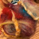 Hand-blended Merino/Silk Fiber - Hot Tamales