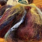 Hand-blended Merino/Silk Fiber - Milky Way