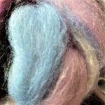 Merino/Silk Fiber - Wild Pansy