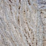 Hand-Dyed Combed Curly Cotton - Colorado Creamy Grebe