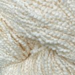 Hand-Dyed Combed Curly Cotton - Creme Alpine Jay