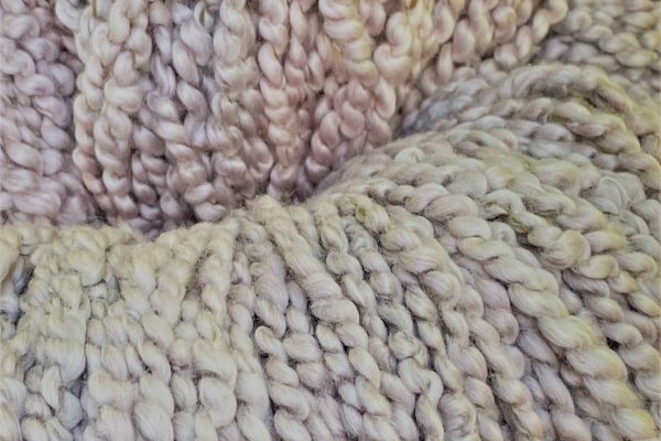 Meet Lambspun's newest hand-dyed yarn -- Combed Curly Cotton