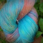 Hand-Dyed Silk/Merino/SeaCell Silk -- Tahiti Swirl