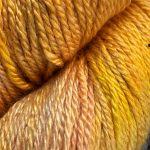 Hand-Dyed Silk/Merino/SeaCell Silk -- Mango