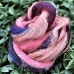 Wool/Silk Fiber - Foothills Sunset