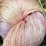 Hand-Dyed Silk/Merino/SeaCell Silk -- Abalone