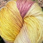 Hand-Dyed Silk/Merino/SeaCell Silk -- Pineapple Passion
