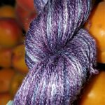 Hand-dyed Very Fine Silk -- Purple Emperor