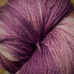 Hand-Dyed Silk/Merino/SeaCell Silk -- Polynesian Purple