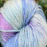 Hand-Dyed Silk/Merino/SeaCell -- High Tide