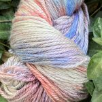 Hand-Dyed Silk/Merino/SeaCell Silk -- Oyster Pearl