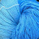 Hand-Dyed Silk/Merino/SeaCell Silk -- Tahiti Sky