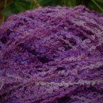 Hand-dyed 100% Silk Bouclé -- Polynesian Punch