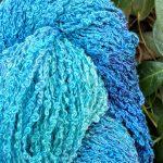 Hand-dyed 100% Silk Bouclé -- Enchanted Lagoon