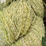 Hand-dyed 100% Silk Bouclé -- Moss Garden
